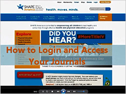 Tutorial for accessing Journals